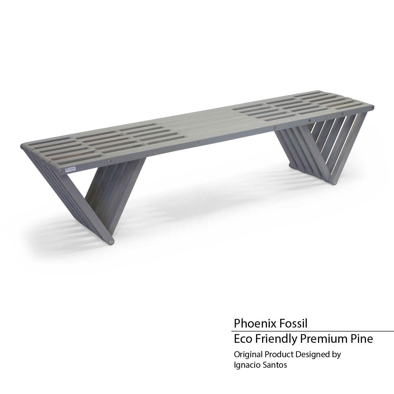 GloDea X70 Eco-friendly Wooden Bench (Phoenix Fossil), Si...