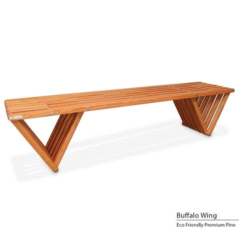 GloDea X70 Eco-friendly Backless Wooden Bench