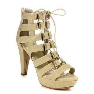 Beston Cc18 Women's Chunky Heel Gladiator Sandals