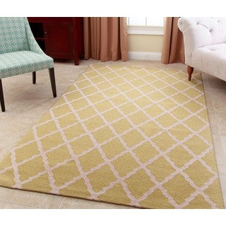 ABBYSON LIVING Hand-tufted Chloe Honeydew Green New Zealand Wool Rug (5' x 8')