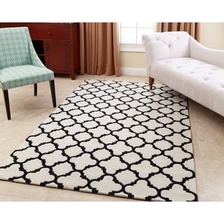 ABBYSON LIVING Hand-tufted Corbin Sand New Zealand Wool Rug (3' x 5')