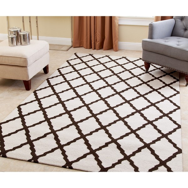 Abbyson Hand-tufted Chloe Dark Brown New Zealand Wool Rug - 3' x 5'