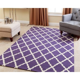 ABBYSON LIVING Hand-tufted Chloe Lavender New Zealand Wool Rug (5' x 8')
