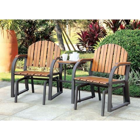Furniture of America Liro Cottage Oak 3-piece Rocking Conversation Set