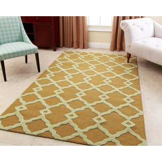 Abbyson Hand-tufted Reese Yellow New Zealand Wool Rug (3' x 5')