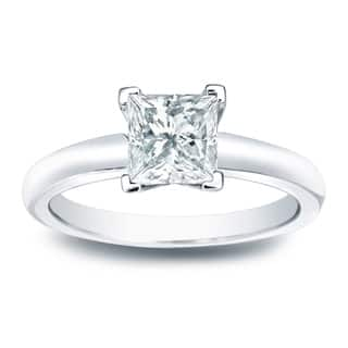 Auriya 14k Gold 1/3ct TDW Princess-cut Diamond Solitaire Engagement Ring|https://ak1.ostkcdn.com/images/products/11503028/P18454810.jpg?impolicy=medium