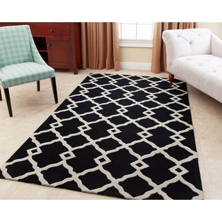 ABBYSON LIVING Hand-tufted Reese Black New Zealand Wool Rug (5' x 8')