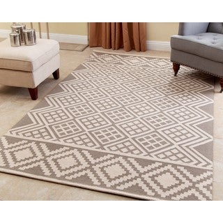 ABBYSON LIVING Hand-tufted Rowe Grey New Zealand Wool Rug (5' x 8')