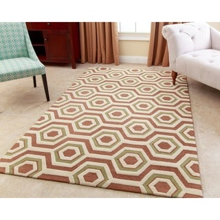 ABBYSON LIVING Hand-tufted Tilley Tawny Brown New Zealand Wool Rug (5' x 8')