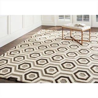 ABBYSON LIVING Hand-tufted Tilley Grey New Zealand Wool Rug (8' x 10')