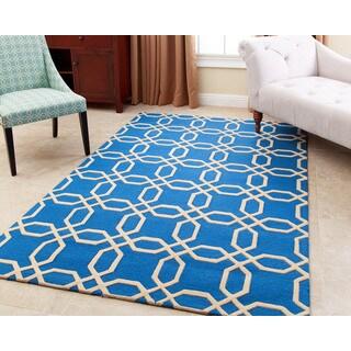 ABBYSON LIVING Hand-tufted Whitney Ocean Blue New Zealand Wool Rug (5' x 8')