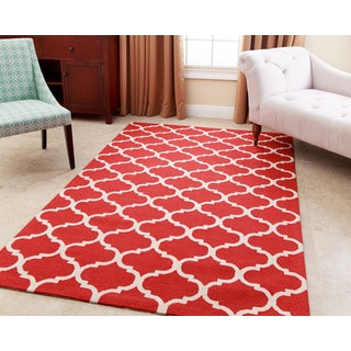 ABBYSON LIVING Hand-tufted Carson Red New Zealand Wool Rug (8' x 10')