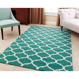 ABBYSON LIVING Hand-tufted Carson Green New Zealand Wool Rug (5' x 8')