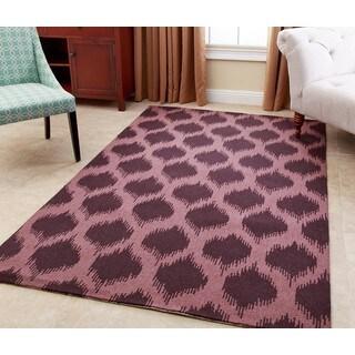 ABBYSON LIVING Hand-tufted Samantha Plum New Zealand Wool Rug (5' x 8')