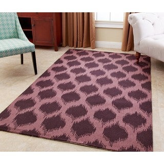 ABBYSON LIVING Hand-tufted Samantha Plum New Zealand Wool Rug (3' x 5')