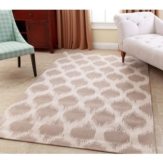 ABBYSON LIVING Hand-tufted Samantha Wheat Brown New Zealand Wool Rug (5' x 8')
