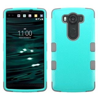 Insten Tuff Hard PC/ Silicone Dual Layer Hybrid Rubberized Matte Phone Case Cover for LG V10