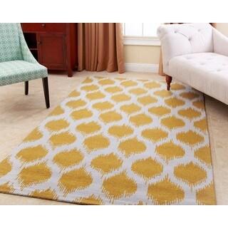 Abbyson Hand-tufted Samantha Yellow New Zealand Wool Rug (8' x 10')