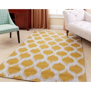 ABBYSON LIVING Hand-tufted Samantha Yellow New Zealand Wool Rug (5' x 8')