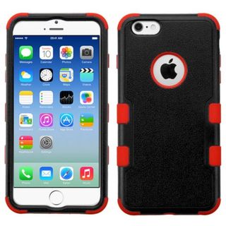 Insten Tuff Hard PC/ Silicone Dual Layer Hybrid Rubberized Matte Case Cover for Apple iPhone 6/ 6s