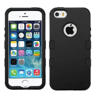 Insten Tuff Hard PC/ Silicone Dual Layer Hybrid Rubberized Matte Case Cover for Apple iPhone 5/ 5S/ SE