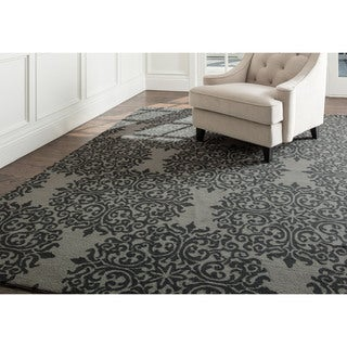 Abbyson Hand-tufted Aubrey Floral Teal New Zealand Wool Rug (3' x 5')
