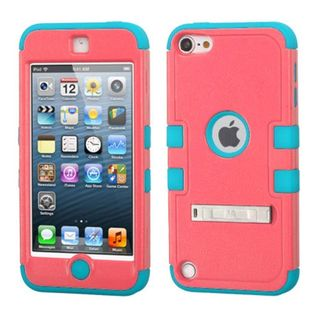 Insten Hard PC/ Silicone Dual Layer Hybrid Rubberized Case Cover with Stand for Apple iPod Touch 5th Gen/ 6th Gen