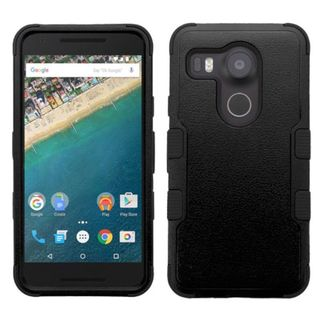 Insten Tuff Hard PC/ Silicone Dual Layer Hybrid Rubberized Matte Case Cover for LG Google Nexus 5X