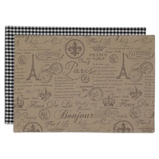 French Flourish Printed Placemat (Set of 6)