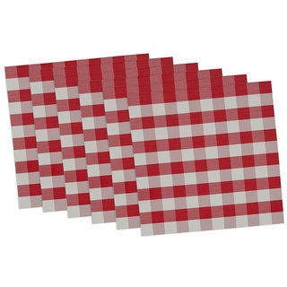 Tango and White Checkers Placemat (Set of 6)