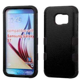 Insten Tuff Hard PC/ Silicone Dual Layer Hybrid Rubberized Matte Case Cover for Samsung Galaxy S7