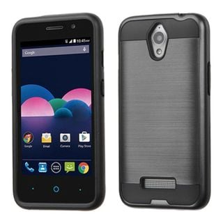 Insten Hard PC/ Silicone Dual Layer Hybrid Rubberized Matte Case Cover for ZTE Obsidian