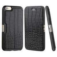 Insten Crocodile Leather Case Cover with Wallet Flap Pouch for Apple iPhone 6 Plus/ 6s Plus