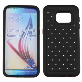Insten Hard PC/ Silicone Dual Layer Hybrid Rubberized Matte Case Cover with Diamond for Samsung Galaxy S7
