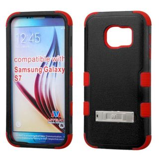 Insten Hard PC/ Silicone Dual Layer Hybrid Rubberized Matte Case Cover with Stand for Samsung Galaxy S7