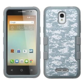 Insten Camouflage Tuff Hard PC/ Silicone Dual Layer Hybrid Rubberized Matte Case Cover for Alcatel One Touch Elevate