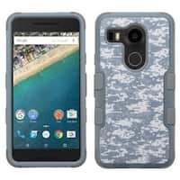 Insten Camouflage Tuff Hard PC/ Silicone Dual Layer Hybrid Rubberized Matte Case Cover for LG Google Nexus 5X