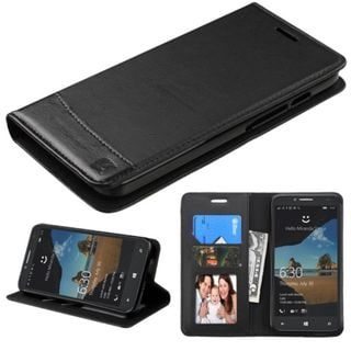 Insten Leather Case Cover with Stand/ Wallet Flap Pouch/Photo Display for Alcatel One Touch Fierce XL