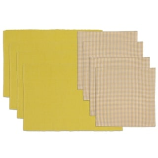 Snapdragon Placemat and Check Napkin Set (Set of 4)