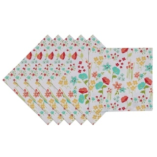 April Flowers Printed Napkin (Set of 6)