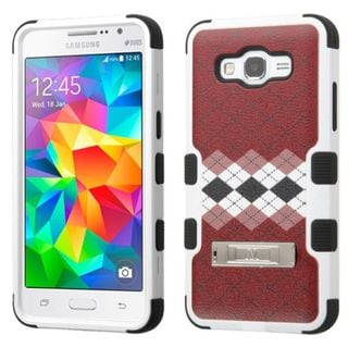 Insten Argyle Tuff Hard PC/ Silicone Dual Layer Hybrid Case Cover with Stand for Samsung Galaxy Grand Prime
