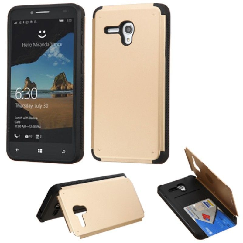 Insten Hard Snap-on Rubberized Matte Case Cover with Card...