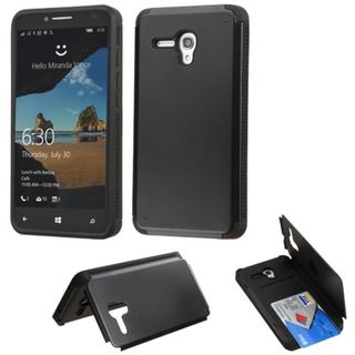 Insten Hard Snap-on Rubberized Matte Case Cover with Card Slot for Alcatel One Touch Fierce XL