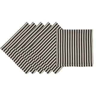 Black Petite Stripe Napkin (Set of 6)
