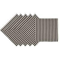 Black Petite Stripe Napkin (Set of 6)
