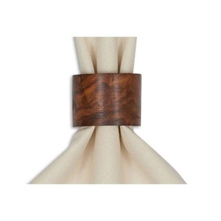Wood Band Napkin Ring (Set of 4)