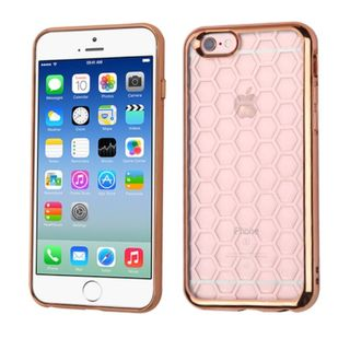 Insten Honeycomb TPU Rubber Candy Skin Case Cover for Apple iPhone 6/ 6s