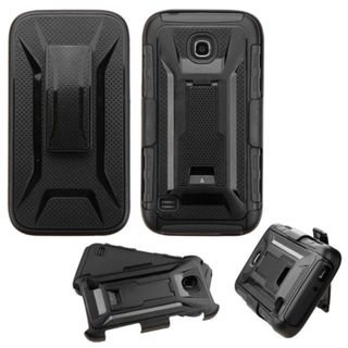 Insten Hard PC/ Silicone Dual Layer Hybrid Case Cover with Holster for Huawei Union