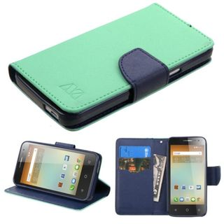 Insten Leather Case Cover with Stand/Wallet Flap Pouch for Alcatel One Touch Elevate
