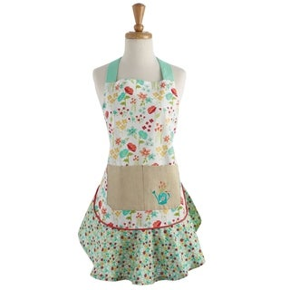 April Flowers Ruffle Apron